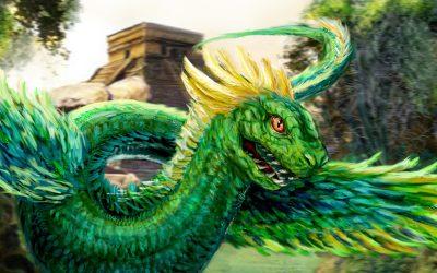 Зеленый Дракон поворачивает голову 23.09.2019