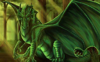 Зеленый Дракон поворачивает голову 06.12.2019