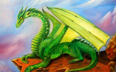 Зеленый Дракон поворачивает голову 04.03.2019