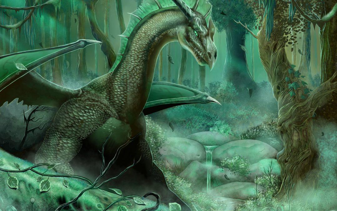 Зеленый Дракон поворачивает голову 27.12.2019
