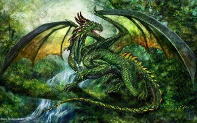 Зеленый Дракон поворачивает голову 24.02.2020